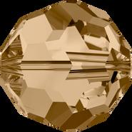 Swarovski Bead 5000 - 10mm, Crystal Golden Shadow (001 GSHA), 6pcs