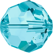 Swarovski Bead 5000 - 8mm, Aquamarine (202), 12pcs