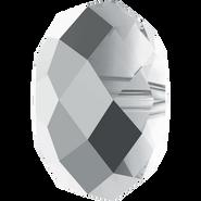 Swarovski Bead 5040 - 8mm, Crystal Light Chrome (001 LTCH), 8pcs