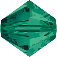 Swarovski Bead 5328 - 5mm, Emerald (205), 48pcs