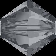 Swarovski Bead 5328 - 8mm, Crystal Silver Night (001 SINI), 12pcs