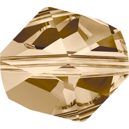 Swarovski Bead 5523 - 12mm, Crystal Golden Shadow (001 GSHA), 4pcs