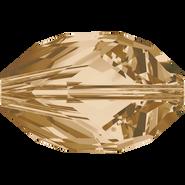 Swarovski Bead 5650 - 16x10mm, Crystal Golden Shadow (001 GSHA), 2pcs