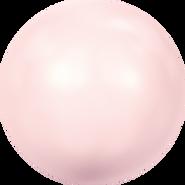 Swar Crystal Pearl 5817 - 14mm, Rosaline (294), Half Drilled, 4pcs