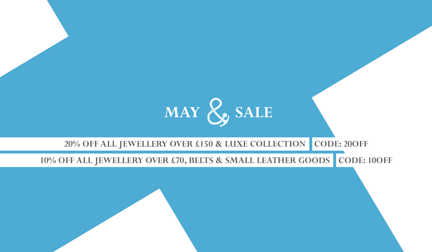 May Sale - Save On Jewellery Belts And Small Leather Goods