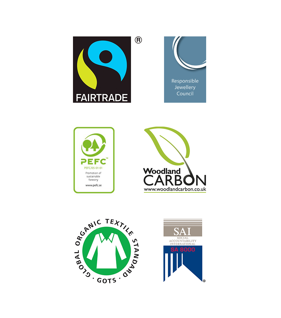 Accreditations Of Suppliers Along Our Supply Chain