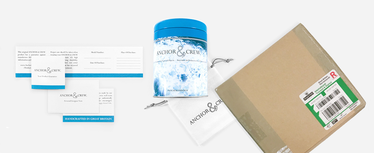 Anchor And Crew's Official Delivery Packaging