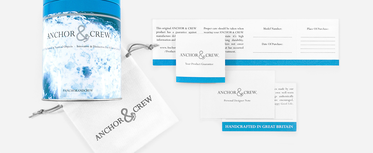 Anchor And Crew's  1 Year Ampersand Guarantee And Care Advice