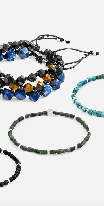 The New A/W19 Bracelet Collection. Discover Vinyl, Rope, Natural Stone and Macrame Bracelets