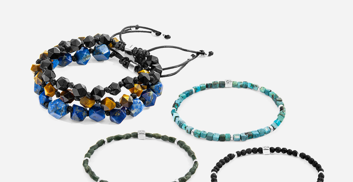 The New A?W19 Bracelet Collection. Discover Vinyl, Rope, Natural Stone and Macrame Bracelets