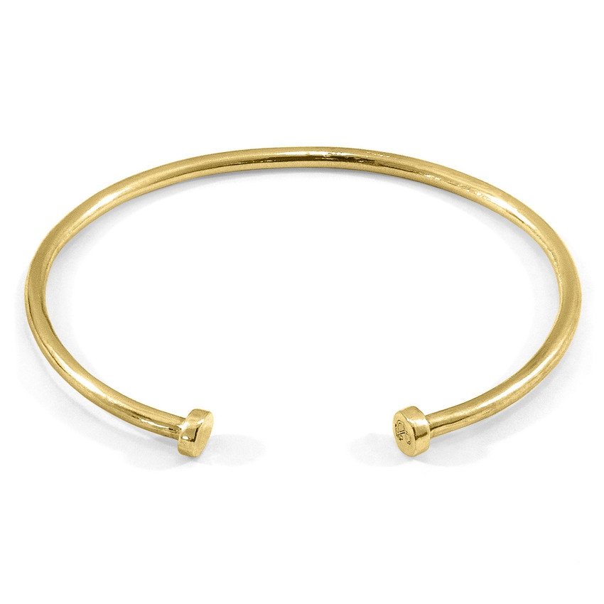Anchor & Crew Ditton Round Midi Wayfarer 9ct Yellow Gold Bangle
