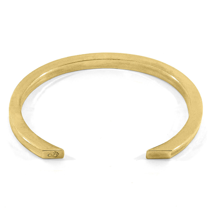 Anchor & Crew Cason Square Maxi Wayfarer 9ct Yellow Gold Bangle