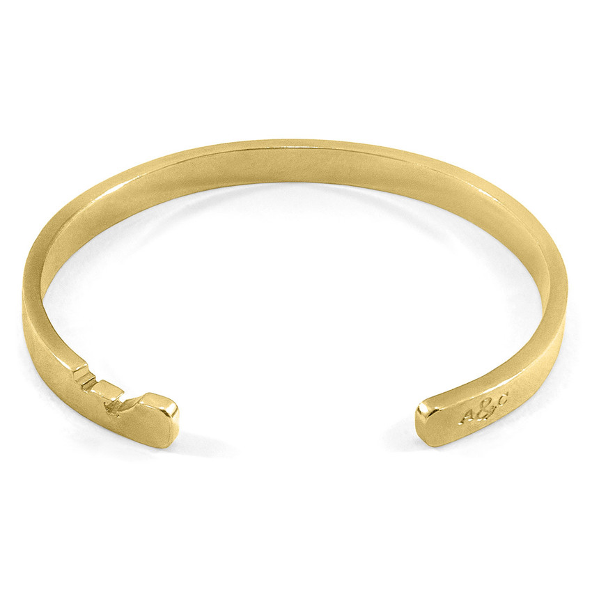 Anchor & Crew Axton Anchor Wayfarer Cutout 9ct Yellow Gold Bangle