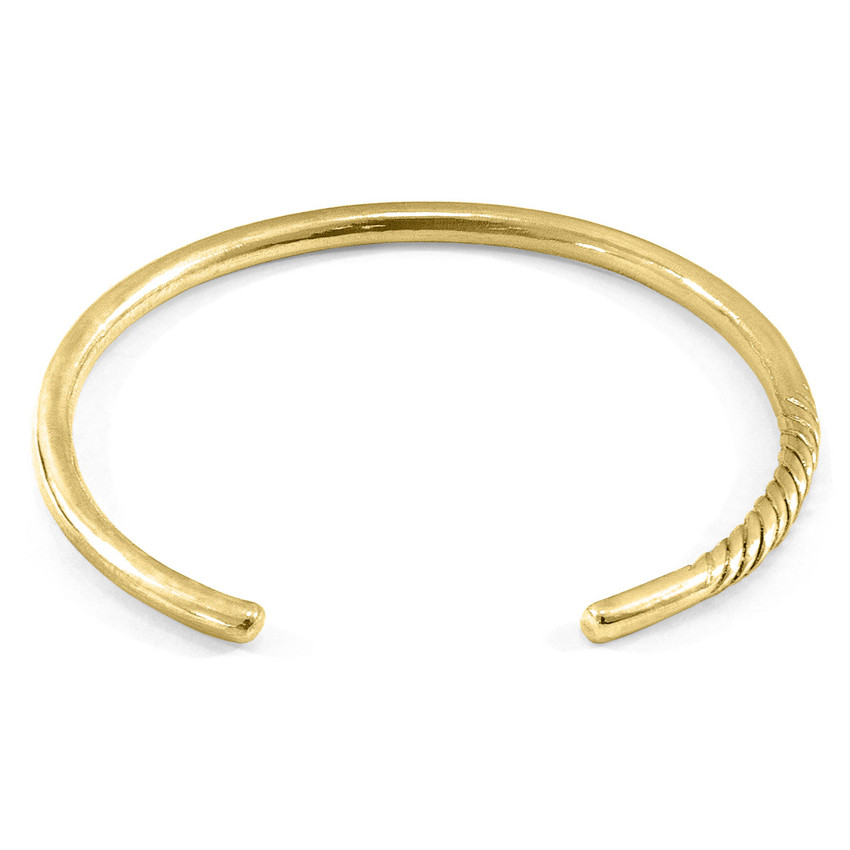 Anchor & Crew Byron Quarter Rope Wayfarer 9ct Yellow Gold Bangle