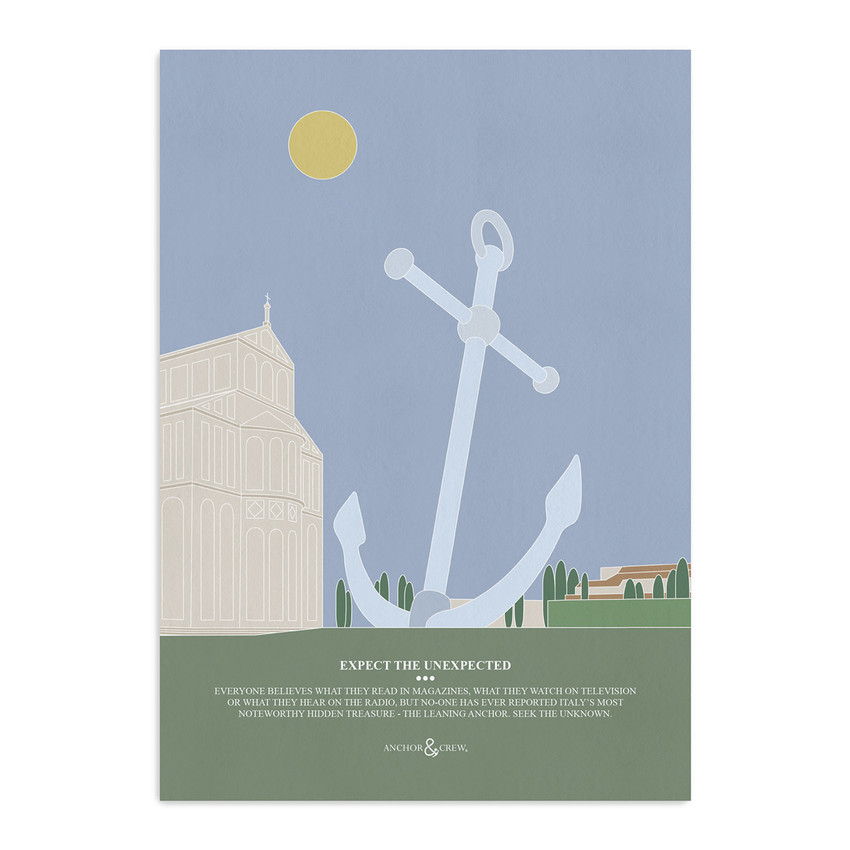 Anchor & Crew The Leaning Anchor Archival Giclée Paper A3 Wall Print