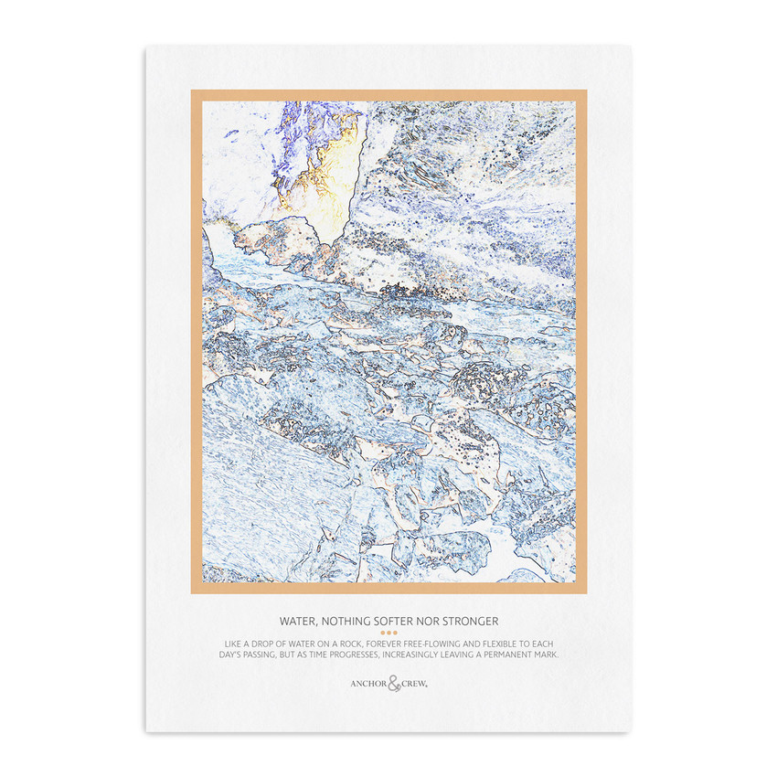 Anchor & Crew Nothing Softer Nor Stronger Archival Giclée Paper A3 Wall Print