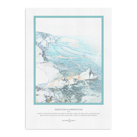Anchor & Crew Perfection In Imperfection Archival Giclée Paper A3 Wall Print