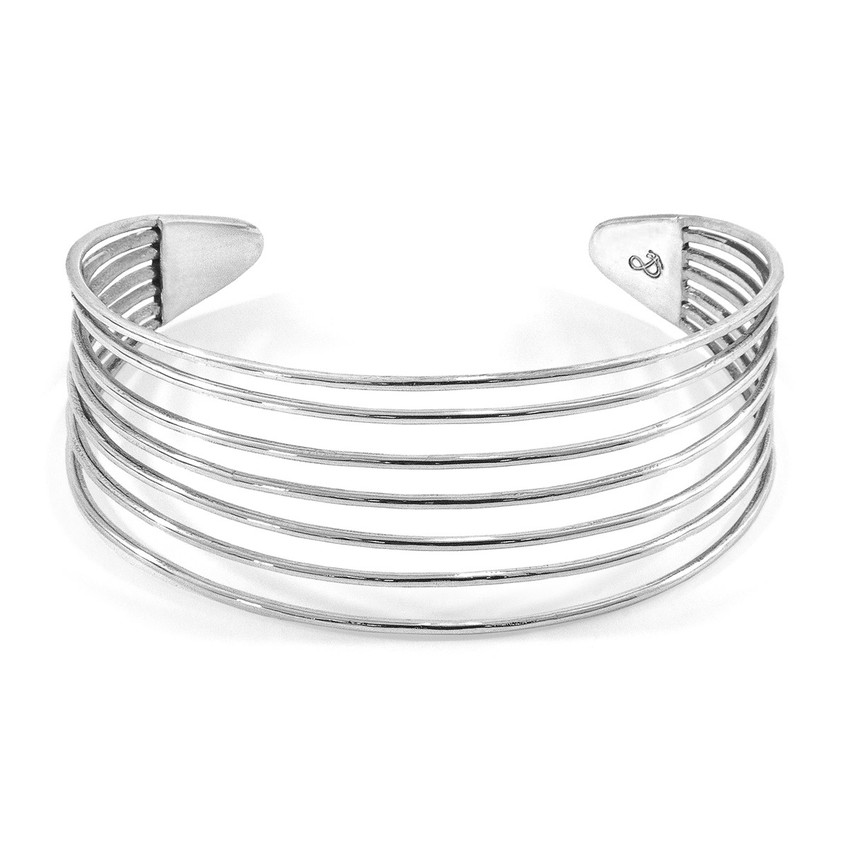 Anchor & Crew Bondi Midi Surf Silver Bangle
