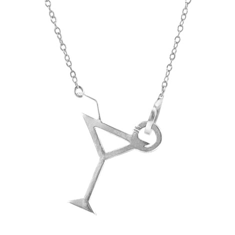 Anchor & Crew Beach Cocktail Link Paradise Silver Necklace Pendant