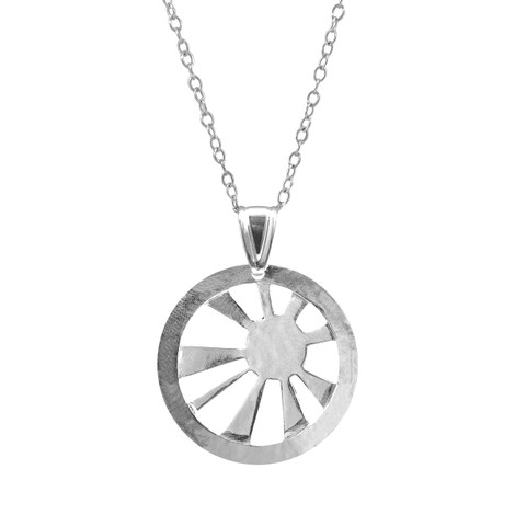 Anchor & Crew Sunrise Sunset Disc Paradise Silver Necklace Pendant