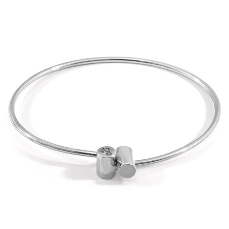 Anchor & Crew Wynne Capsule Midi Geometric Silver Bangle