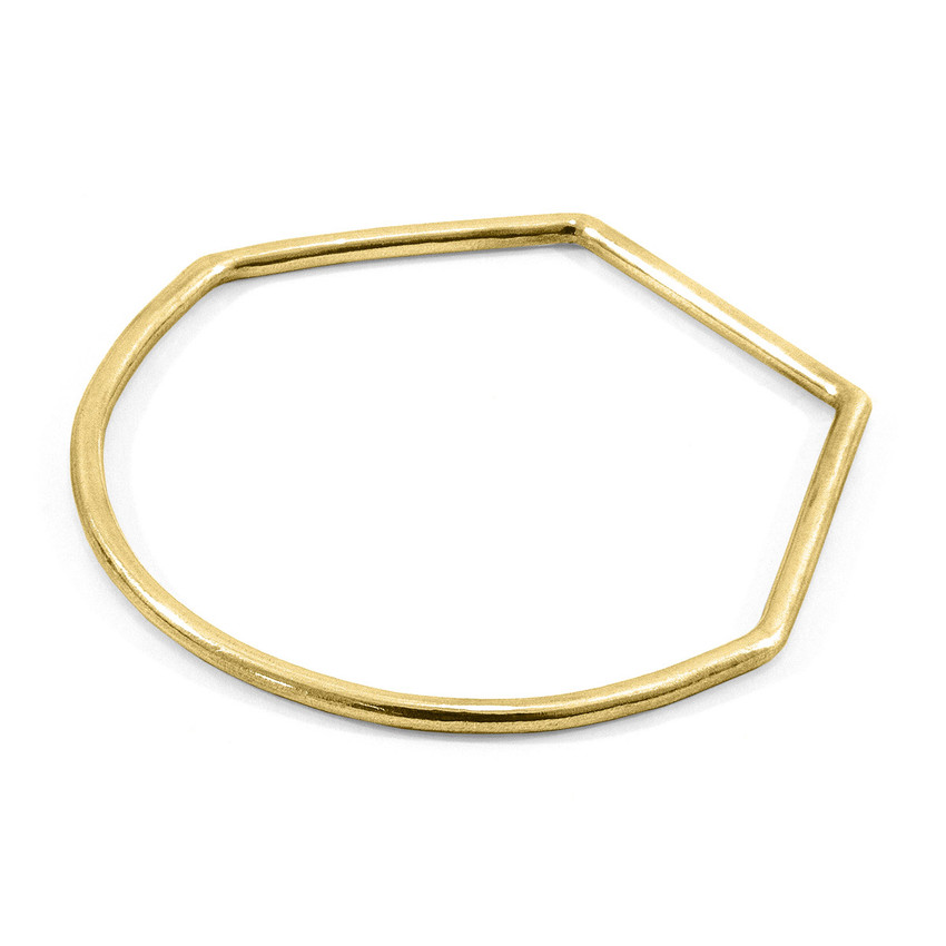 Anchor & Crew Rowe Half Circle Geometric 9ct Yellow Gold Bangle