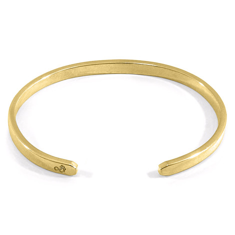 Anchor & Crew Reynolds Element Midi Geometric 9ct Yellow Gold Bangle
