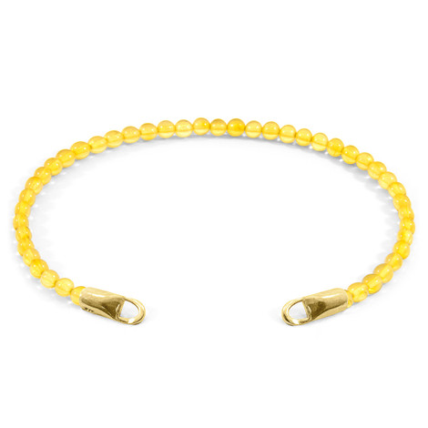 Anchor & Crew Yellow Amber CUSTOM Bracelet Stone and 9ct Yellow Gold Line