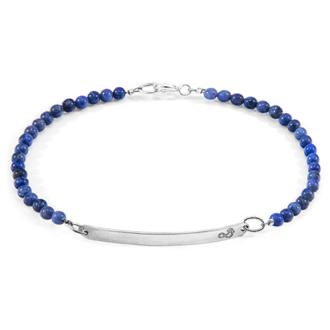Anchor & Crew Blue Dumortierite Purity Silver and Stone Bracelet