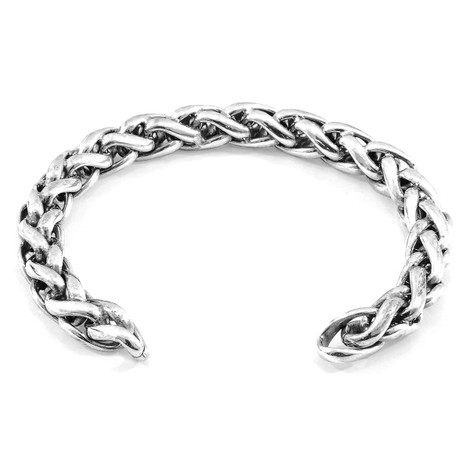 Anchor & Crew Genoa Sail Silver Chain Bangle