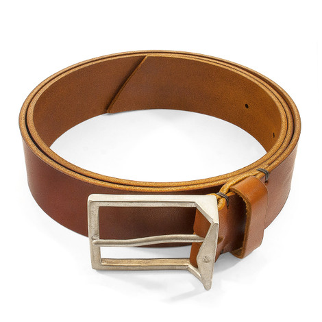 Anchor & Crew Tan Brown Original Warwick Leather and Nickel Belt