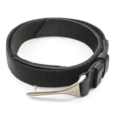 Anchor & Crew Grey Elastic Signature Dunluce Leather and Nickel Belt