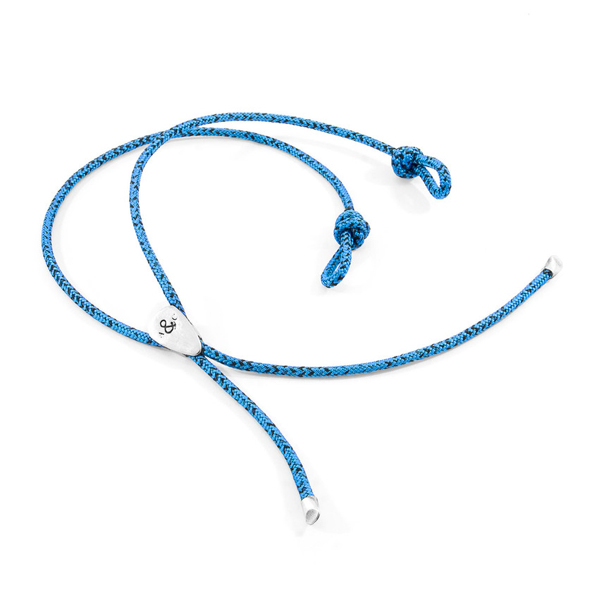 Anchor & Crew Blue Noir Pembroke Silver and Rope Eyewear Strap