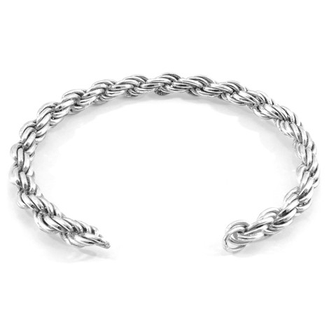 Anchor & Crew Royal Sail Silver Chain Bangle