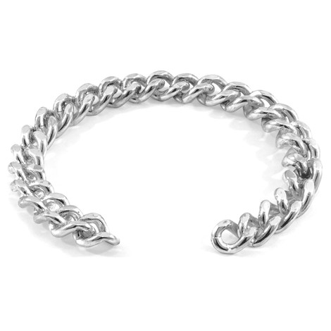 Anchor & Crew Crossjack Sail Silver Chain Bangle