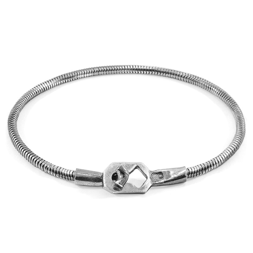 Anchor & Crew Tenby Mooring Silver Chain Bracelet