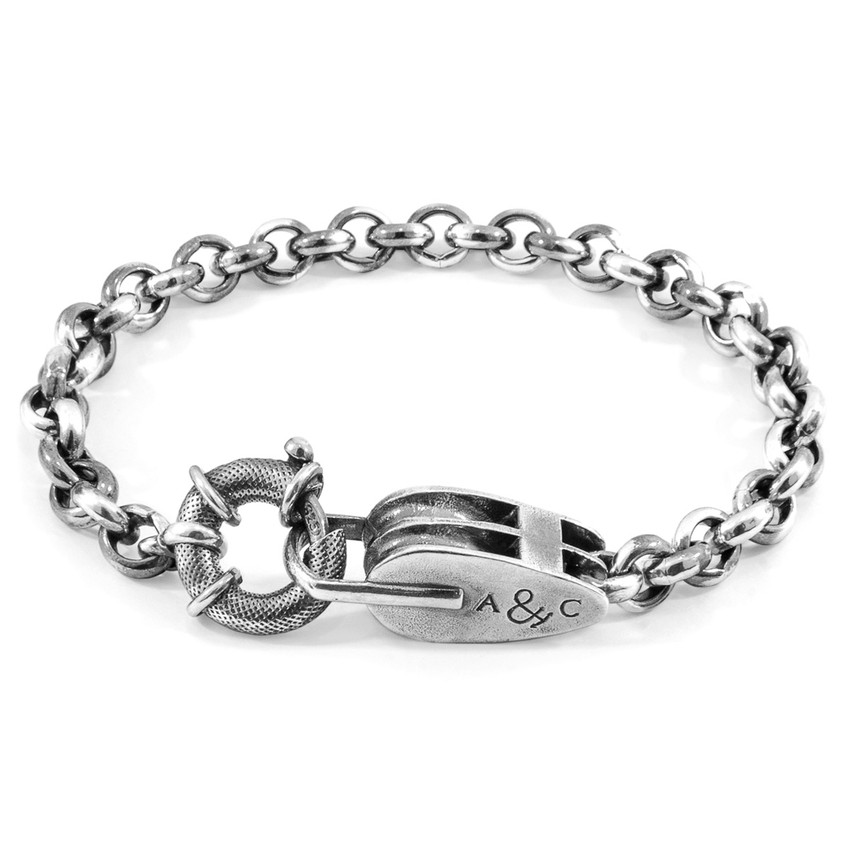 Anchor & Crew Tyne Mooring Silver Chain Bracelet