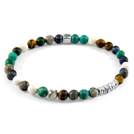 Anchor & Crew Multicoloured Multi-Gem Atrato Silver and Stone Bracelet