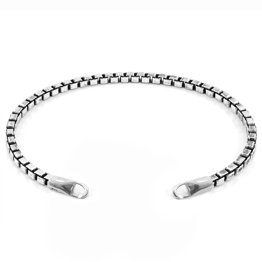Anchor & Crew Lateen CUSTOM Bracelet Silver Chain Line With Clasp