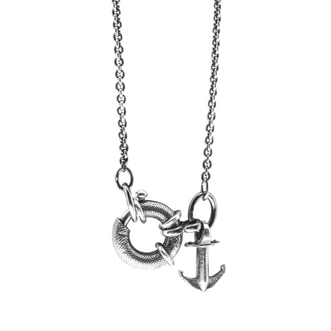 Anchor & Crew Clyde Signature Silver Necklace Pendant