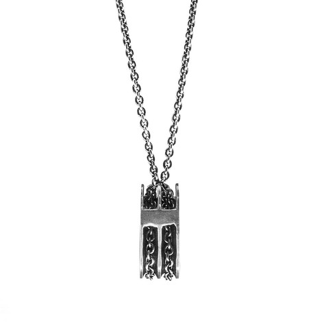 Anchor & Crew Rothesay Pulley Silver Necklace Pendant