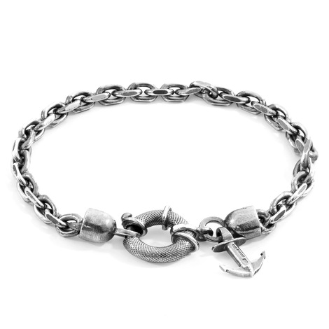 Anchor And Crew Pulsera Salcombe Mooring de Cadena de Plata
