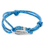 Anchor & Crew Blue Noir Tyne Silver and Rope Bracelet