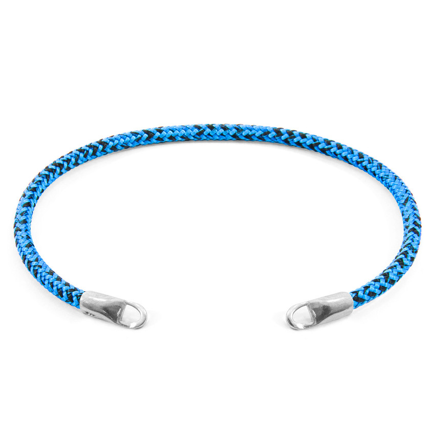 Anchor & Crew Blue Noir CUSTOM Bracelet Rope and Silver Line