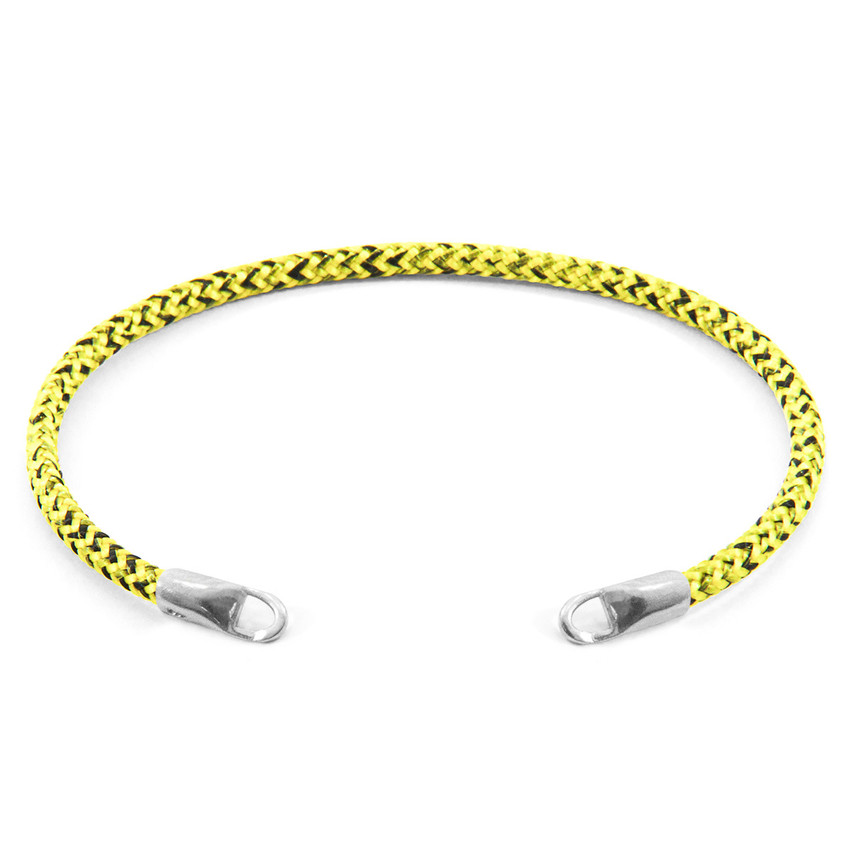 Anchor & Crew Yellow Noir CUSTOM Bracelet Rope and Silver Line
