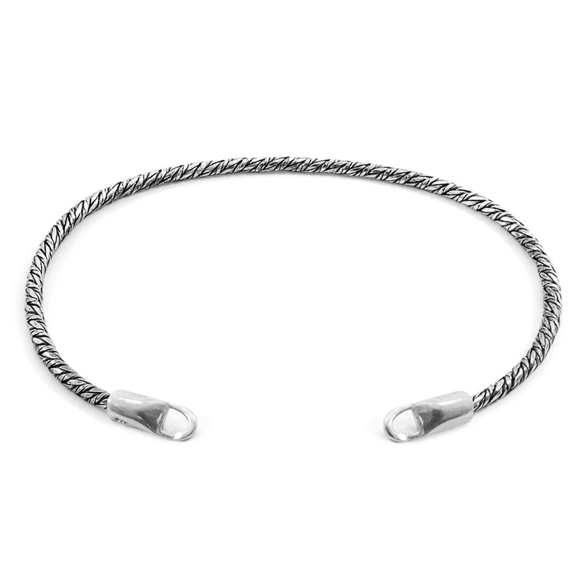 Anchor & Crew Forestay CUSTOM Bracelet Silver Chain Line
