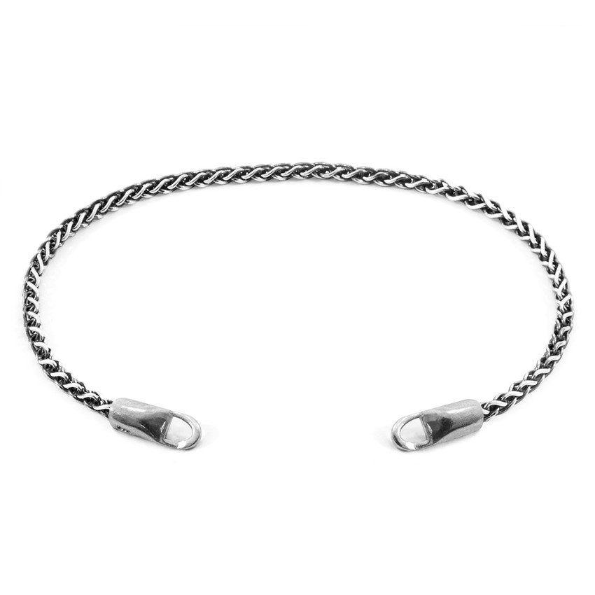 Anchor And Crew Staysail PERSONIFIZIEREN Armband Silberkette Linie