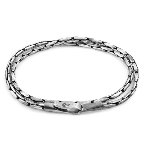 Anchor And Crew Double Bracelet Mizzen Sail Chaîne Argent