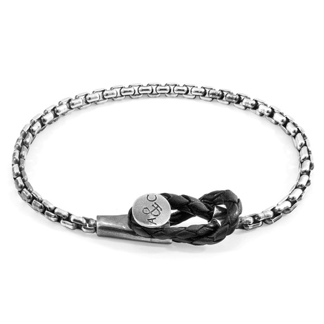 Anchor And Crew Bracciale Dundee Mooring a Catena d'Argento