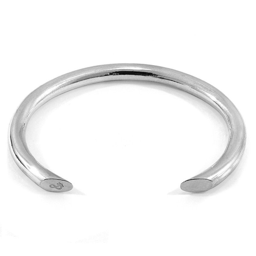 Anchor & Crew Samson Round Maxi Wayfarer Silver Bangle